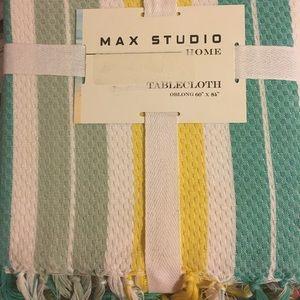 """NWT Max Studio oblong tablecloth 60x84"""""""